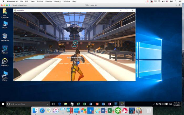 Parallels Desktop 12 vous permet de jouer Overwatch sur votre Mac