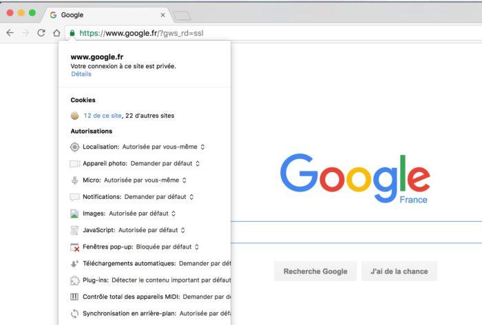Chrome - Google en HTTPS