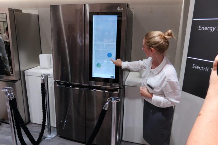 LG présente son réfrigérateur Smart InstaView