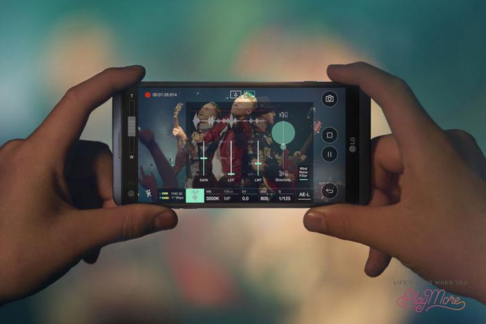 LG V20 : une qualité d'enregistrement Hi-Fi