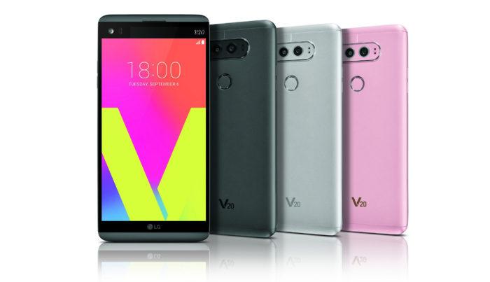 Le LG V20 sera disponible dans divers coloris