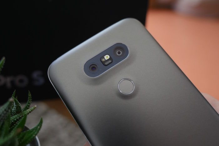LG G5 : capteur d'empreintes digitales