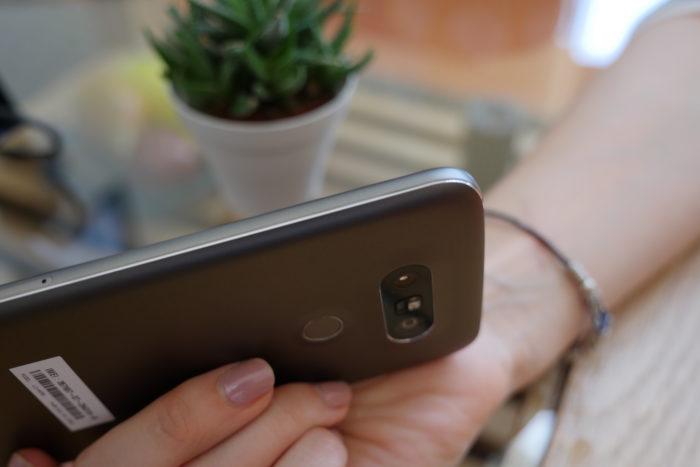 LG G5 : vue de droite