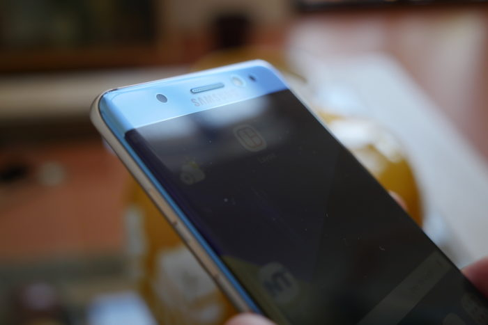 Galaxy Note 7 : écran incurvé