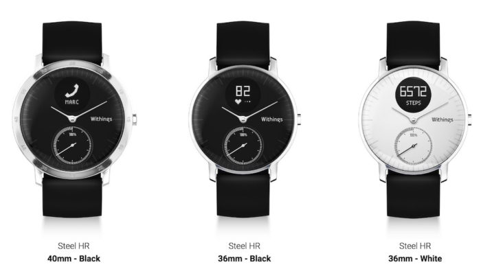 Withings HR Steel : différents modèles