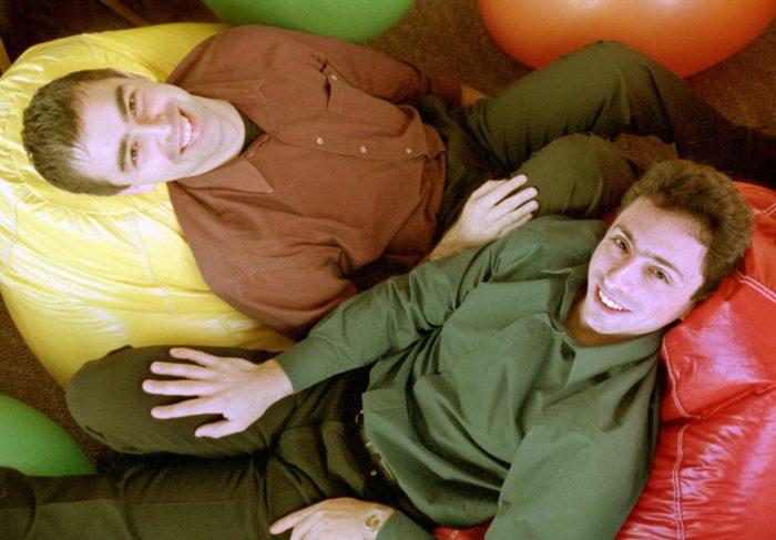 Les fondateurs de Google Larry Page et Sergey Brin