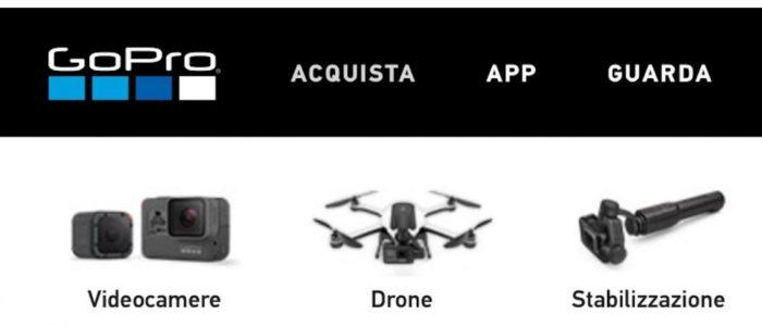 La GoPro Hero 5 et le drone Karma affichés trop tôt sur le site italien