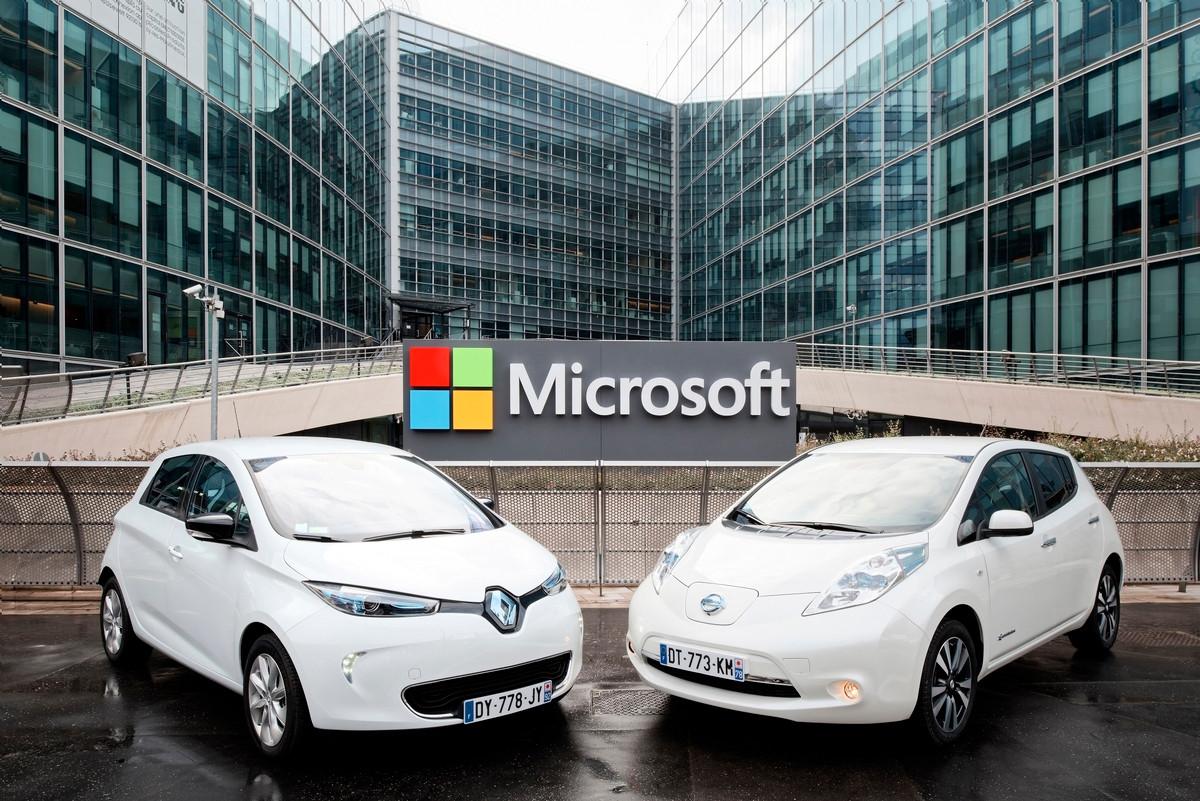 Microsoft et Renault-Nissan main dans la main pour la voiture connectée de demain