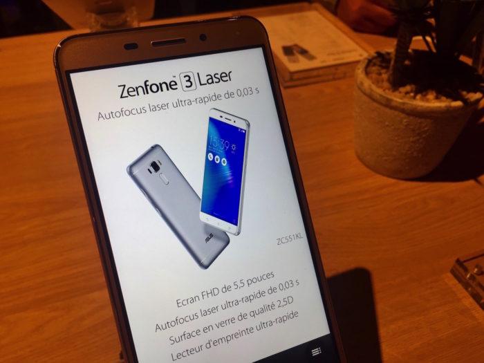 ASUS ZenFone 3 Laser : vue de face