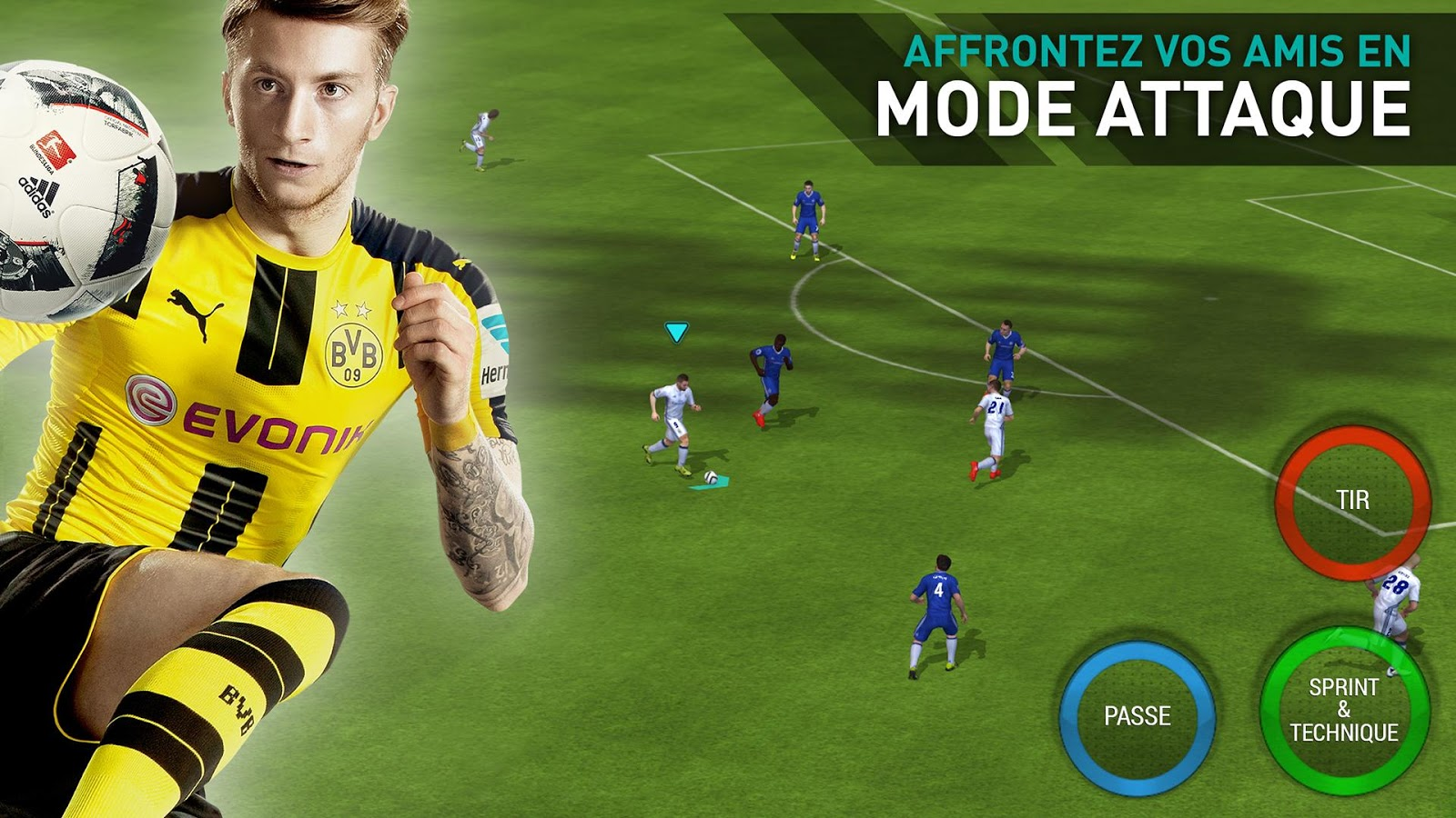FIFA Mobile dispose d'un mode Attaque. Le but ? Marquer.