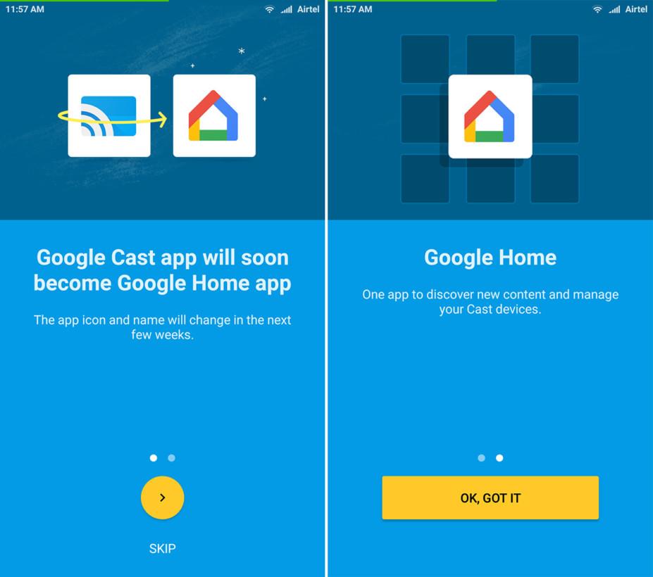 Google Cast devient Google Home