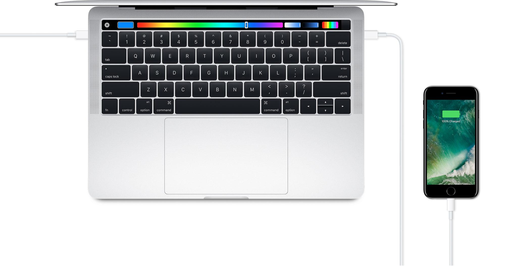 Il faudra un câble pour relier votre iPhone au nouveau MacBook Pro