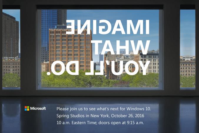 Microsoft prépare un événement le 26 octobre