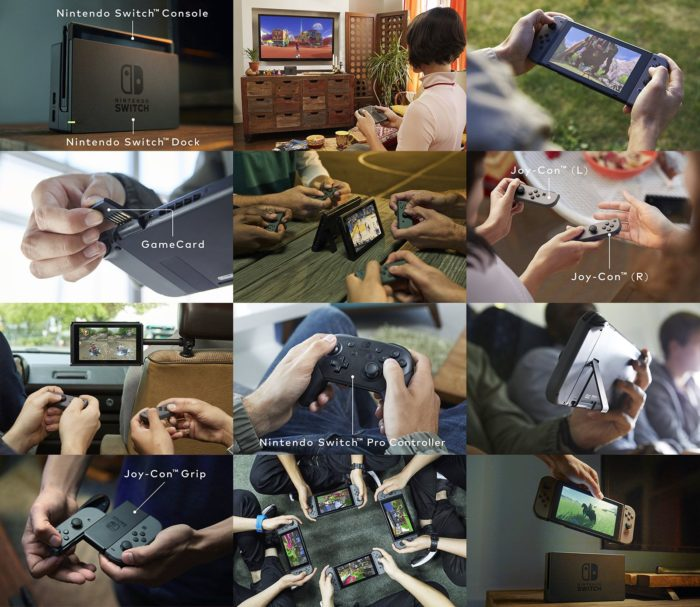 Nintendo Switch : toutes les possibilités