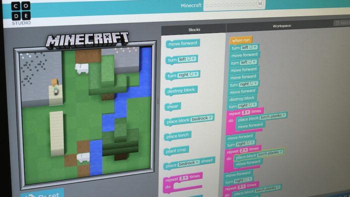 Minecraft est utilisé pour l'apprentissage du développement