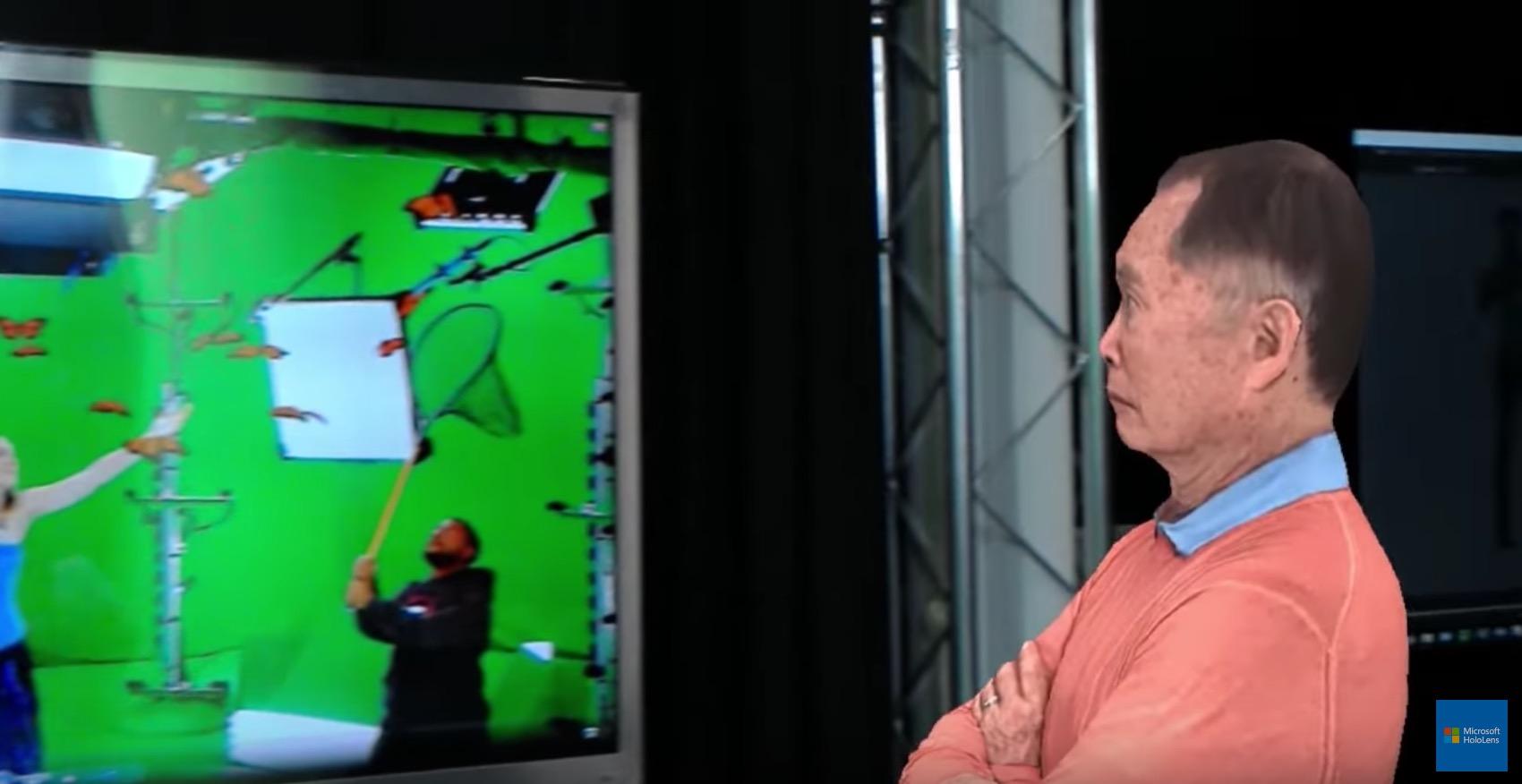 George Takei en hologramme pour le Mannequin Challenge de Microsoft