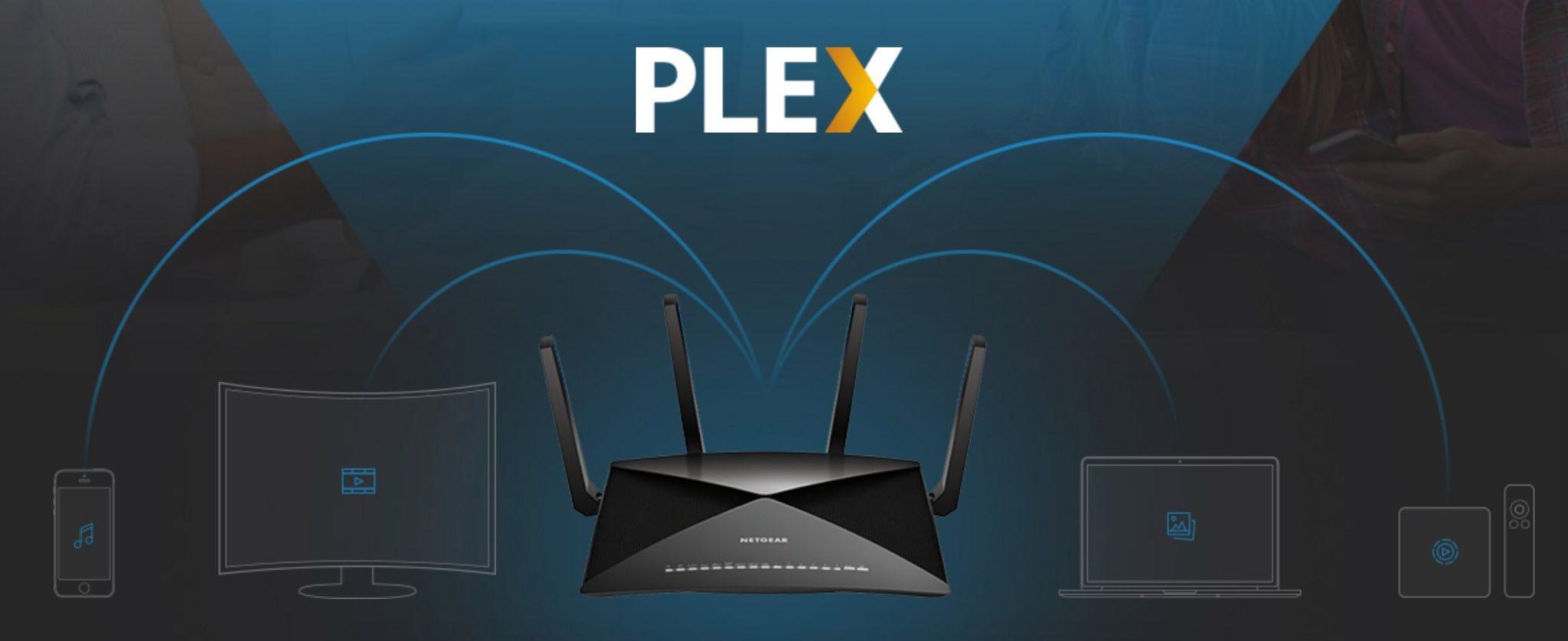 Plex Media Server comme particularité intégrée au routeur