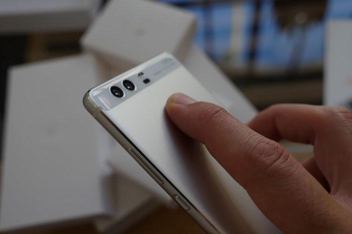 Huawei P9 : capteur d'empreintes digitales