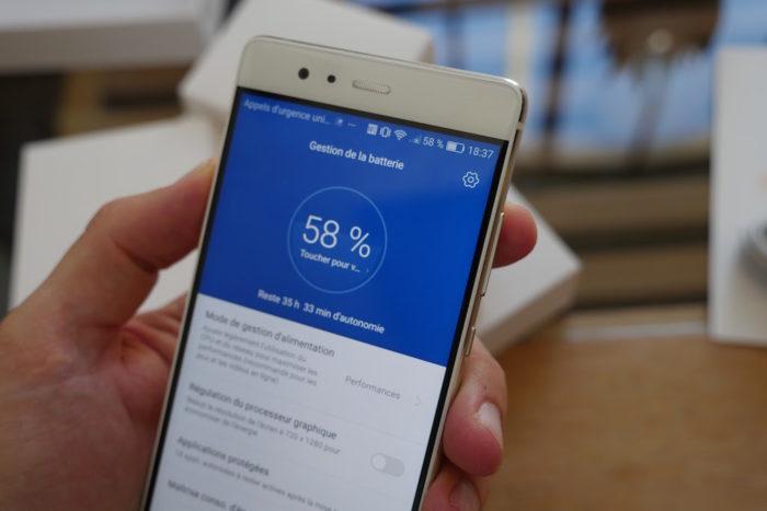 Huawei P9 : l'autonomie n'est pas son point fort