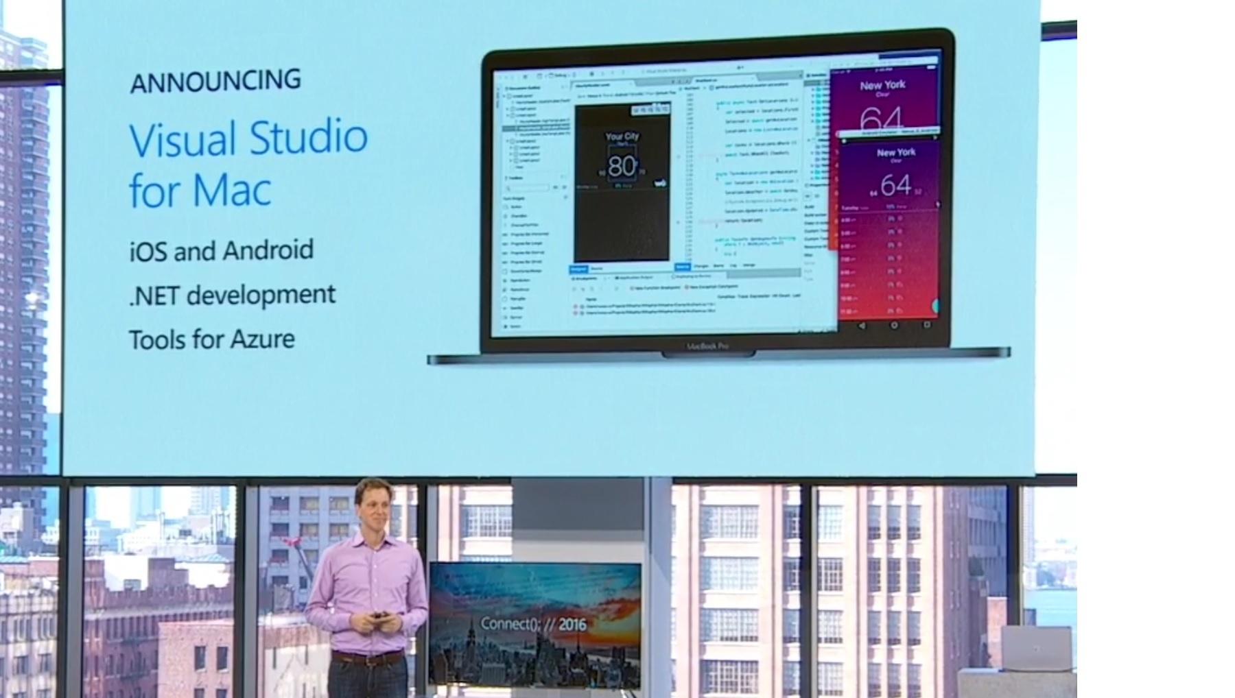 Microsoft a annoncé la disponibilité de Visual Studio pour Mac