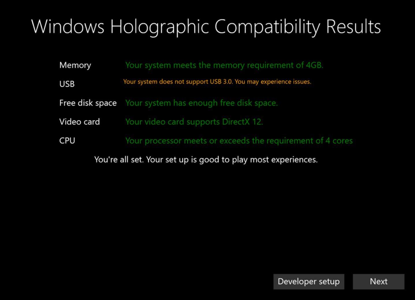 Un PC entrée de gamme suffira pour la réalité virtuelle de Microsoft
