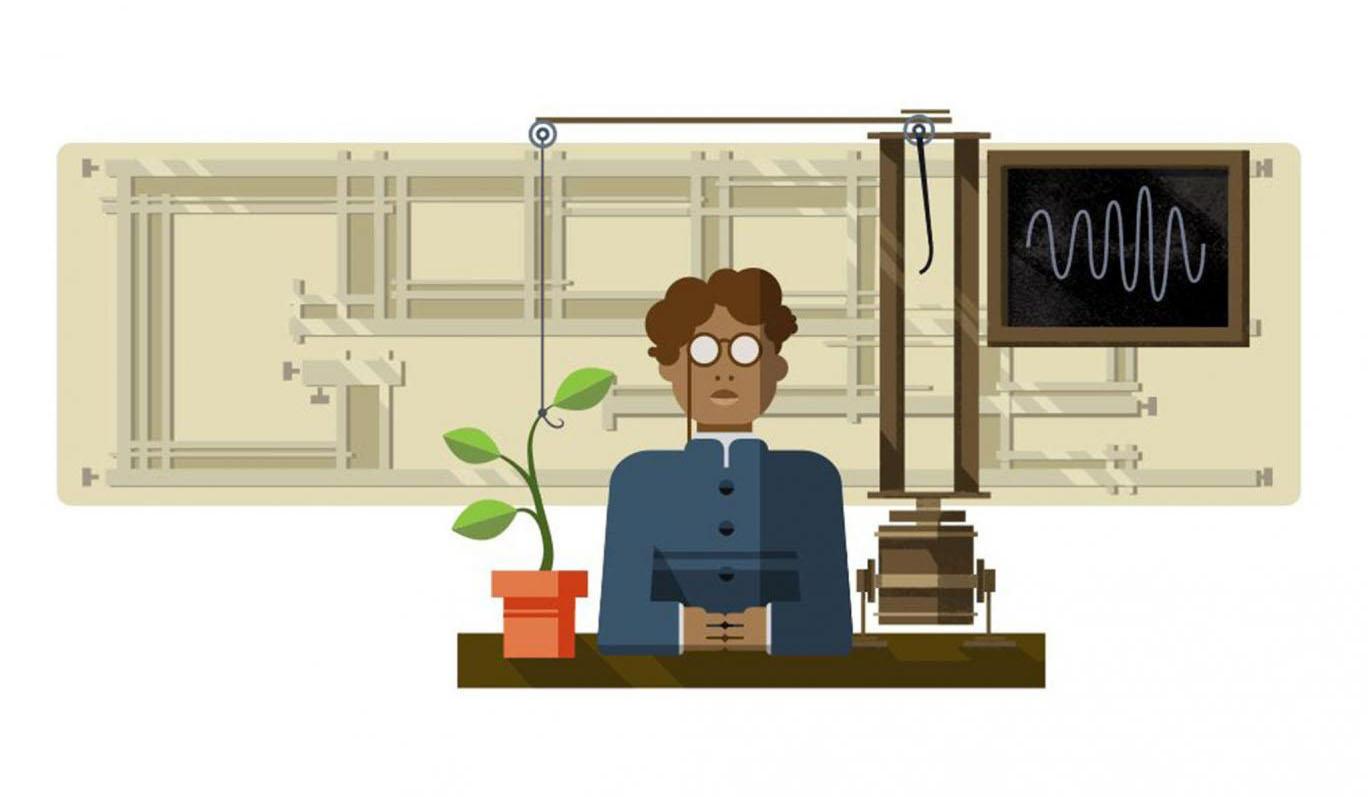 Doodle du 158e anniversaire de Jagadish Chandra Bose