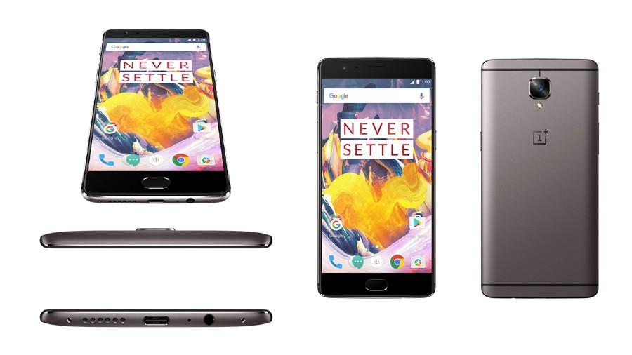 OnePlus 3T est lancé en gris acier