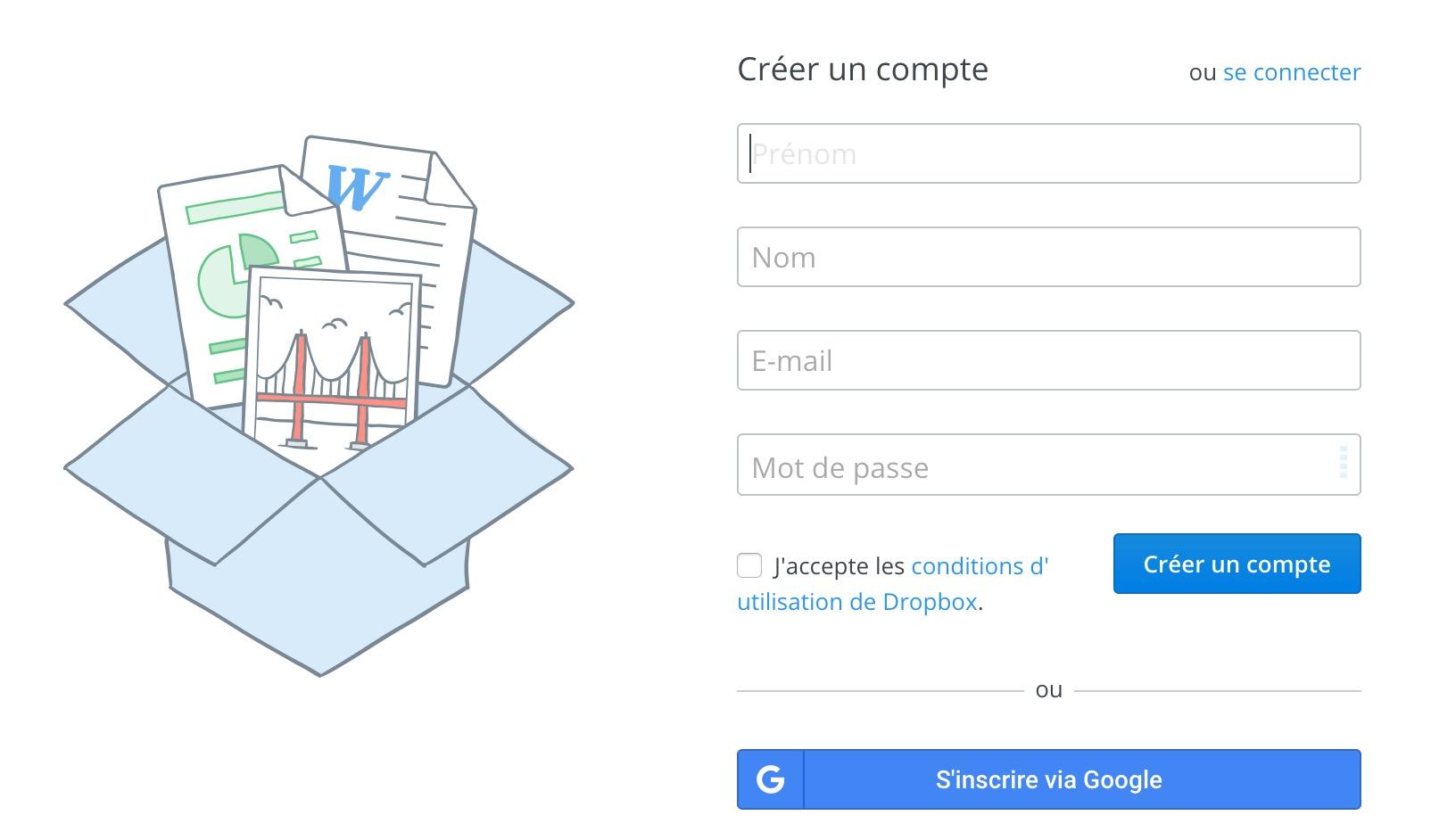 Dropbox est un moyen assez simple de téléverser une photo sur Instagram depuis un PC