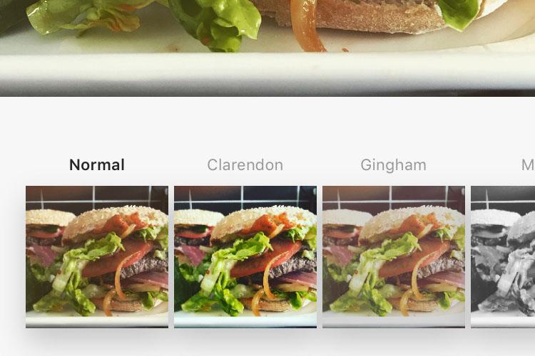 Une fois que vous avez exporté votre photo de Dropbox, vous pouvez la recadrer, appliquer des filtres et la partager.