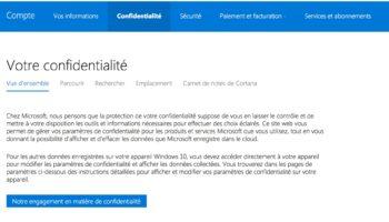 Microsoft – Confidentialite