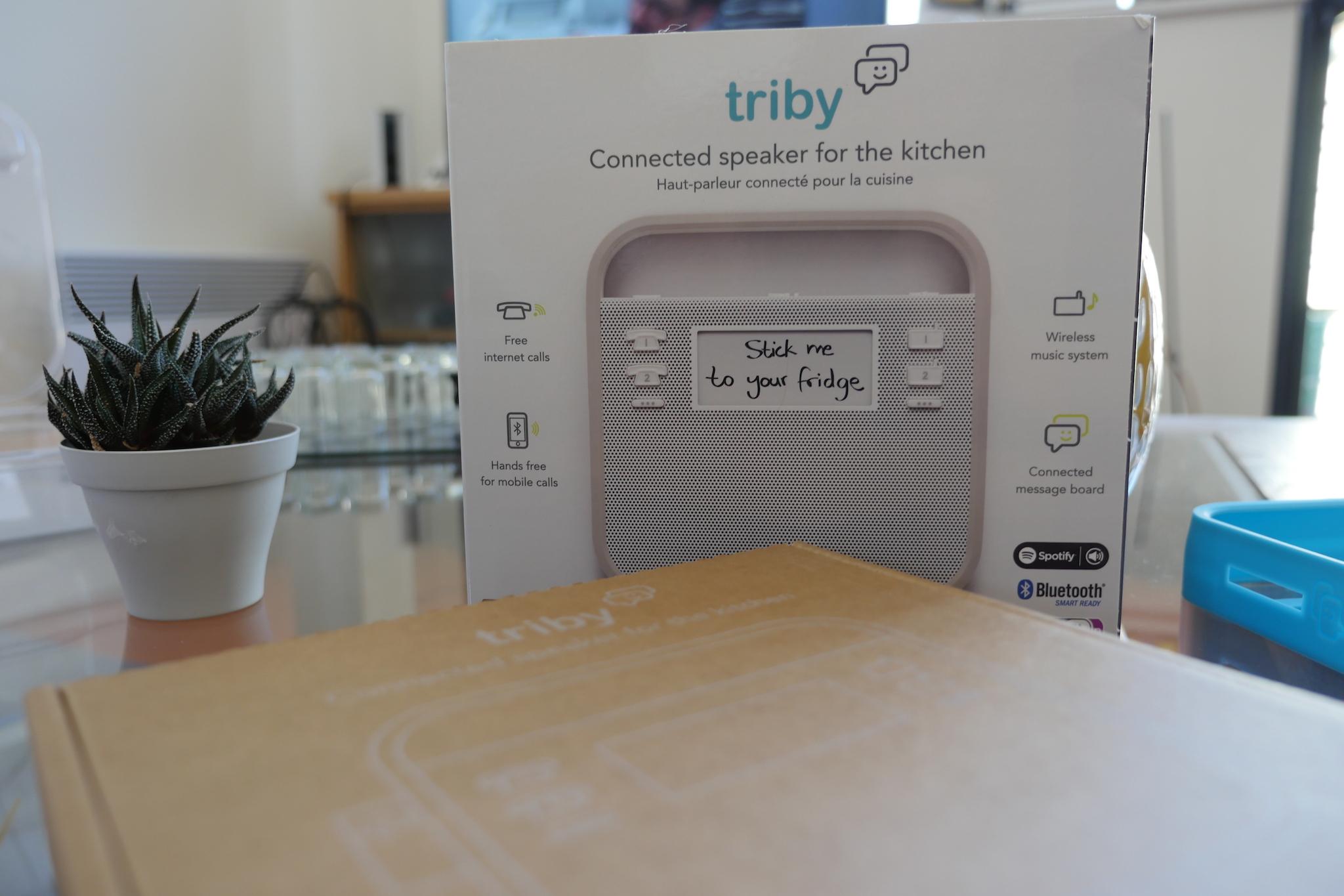 test du triby l 39 enceinte connect e parfaite pour votre cuisine. Black Bedroom Furniture Sets. Home Design Ideas