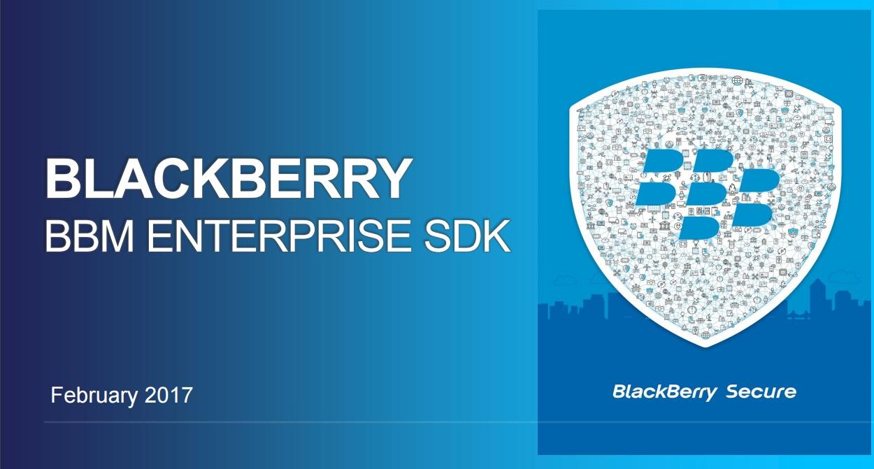 BBM Enterprise SDK