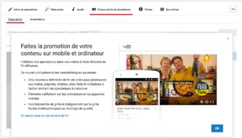YouTube – ecran fin