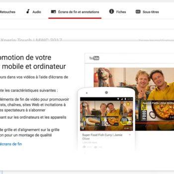 YouTube – ecran fin