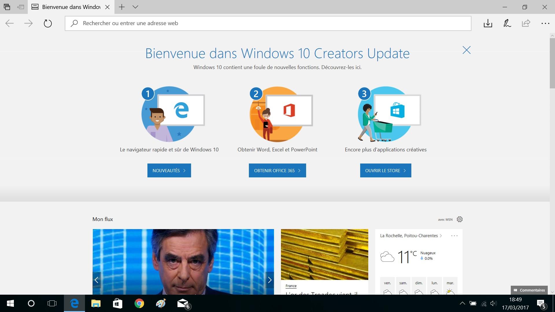 Comment mettre à niveau vers Windows 10 Creators Update RTM maintenant