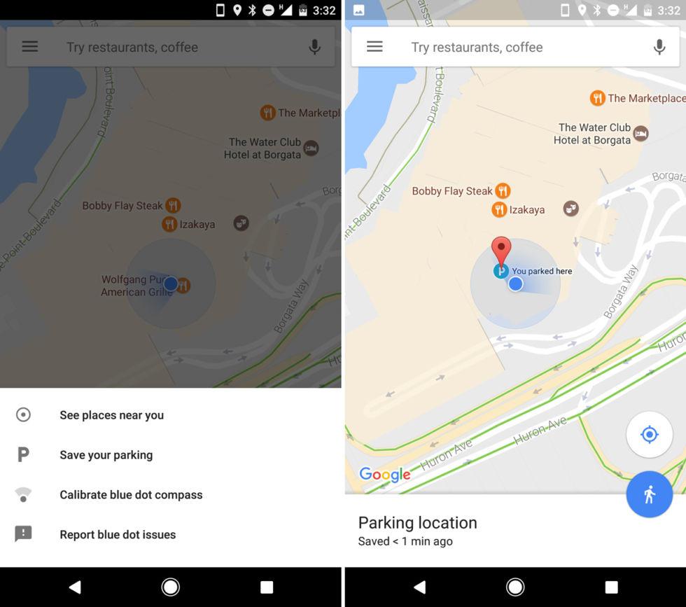 Google Maps peut désormais se rappeler où vous avez garé votre voiture