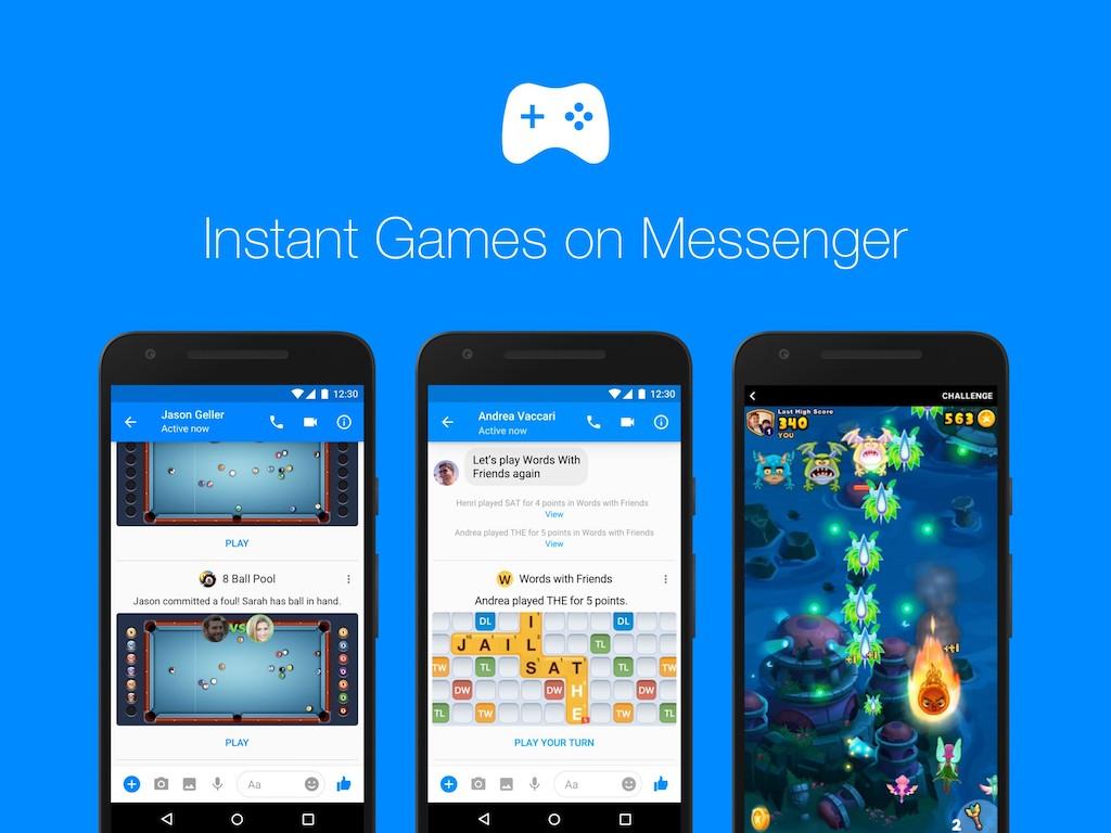 Facebook Messenger déploie Instant Games à tous ses utilisateurs