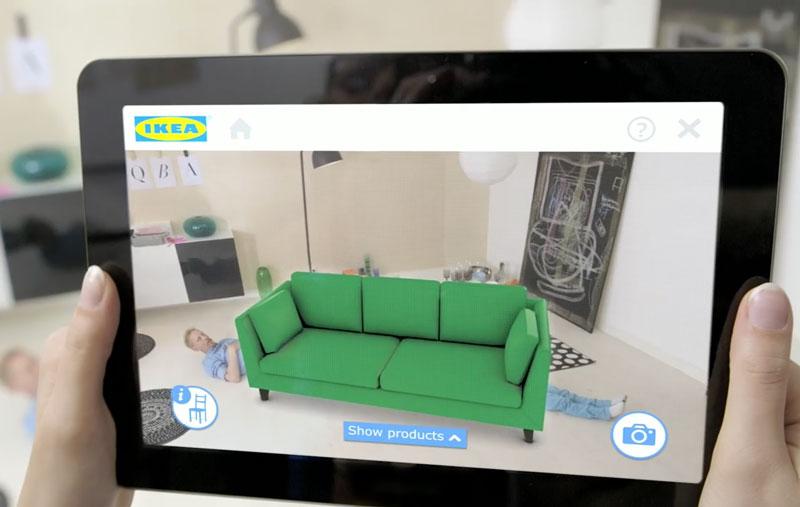 ikea pr pare une app de mobilier en r alit augment e pour ios 11. Black Bedroom Furniture Sets. Home Design Ideas
