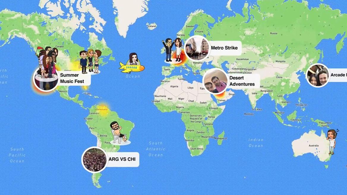 Snapchat lance Snap Map pour géolocaliser les Snaps