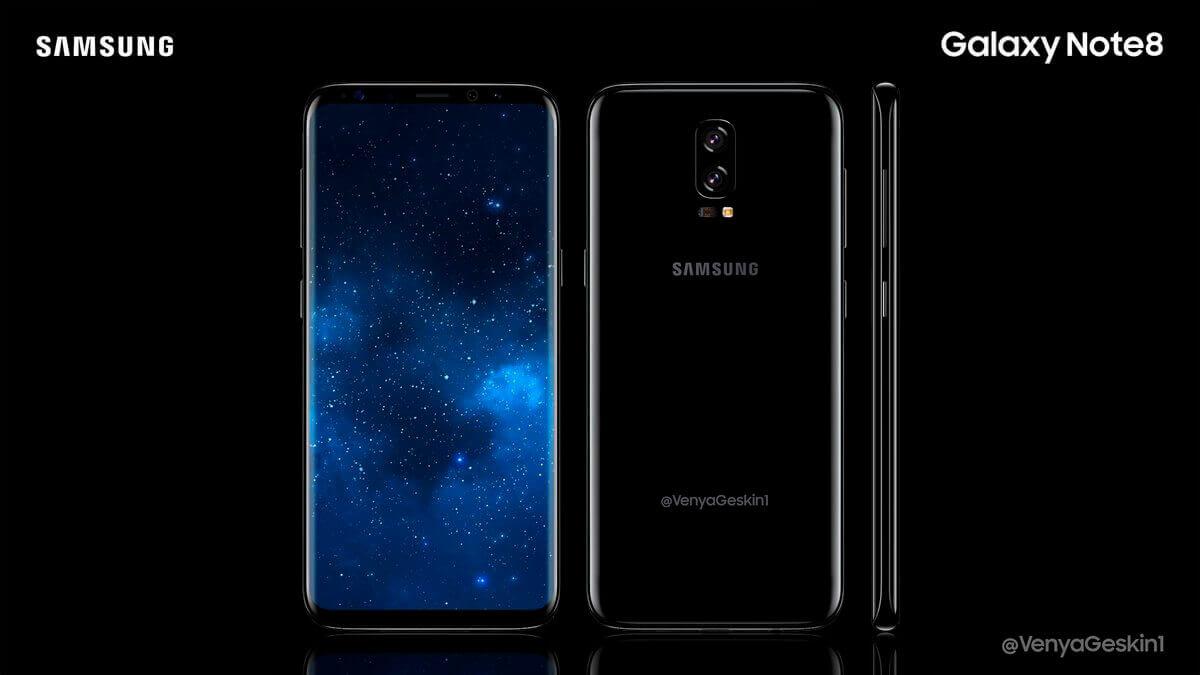 Plusieurs photos du Samsung Galaxy Note 8 ont fuité