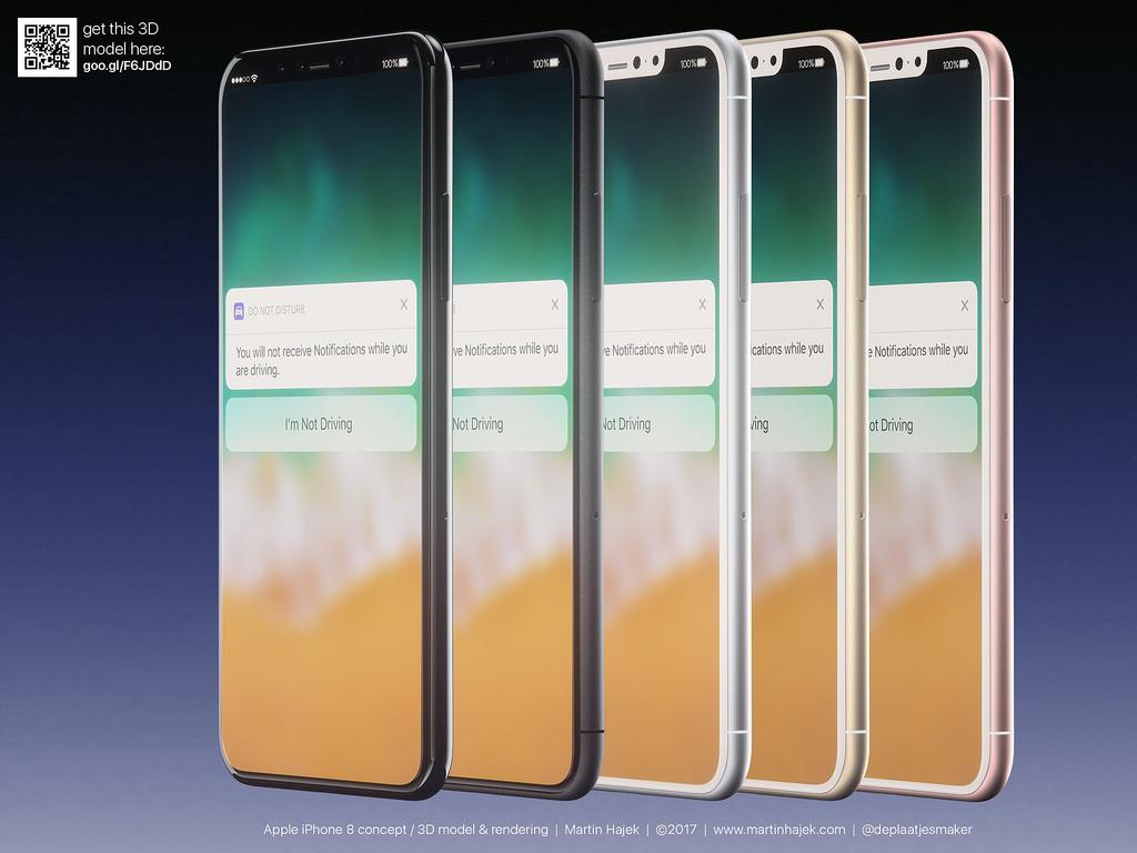 L'iPhone 8 serait disponible en trois couleurs dès septembre