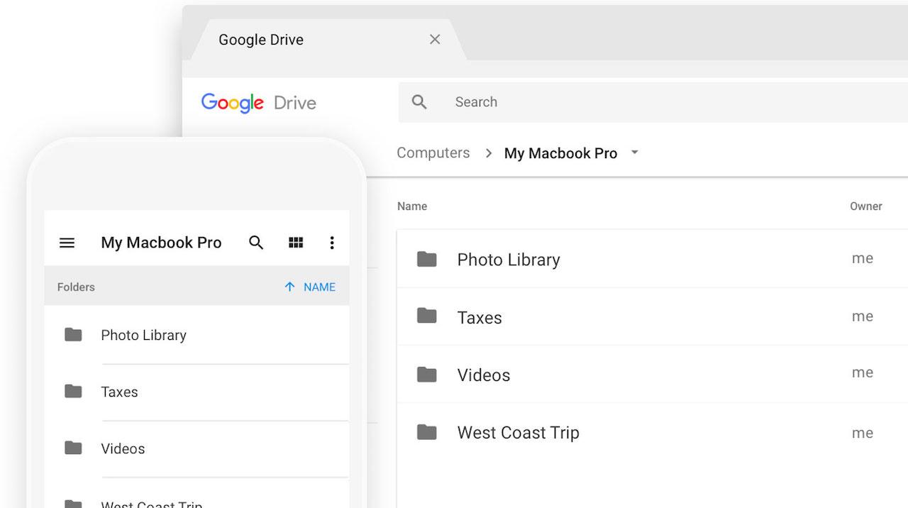 L'applicationSauvegarde et synchronisation est une copie de Google Drive