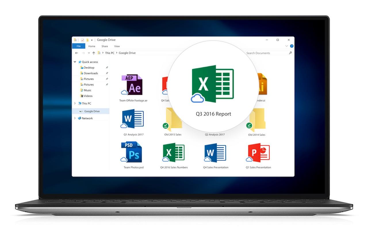 Google a également activé la prise en charge de l'accès hors ligne dans l'application Drive File Stream