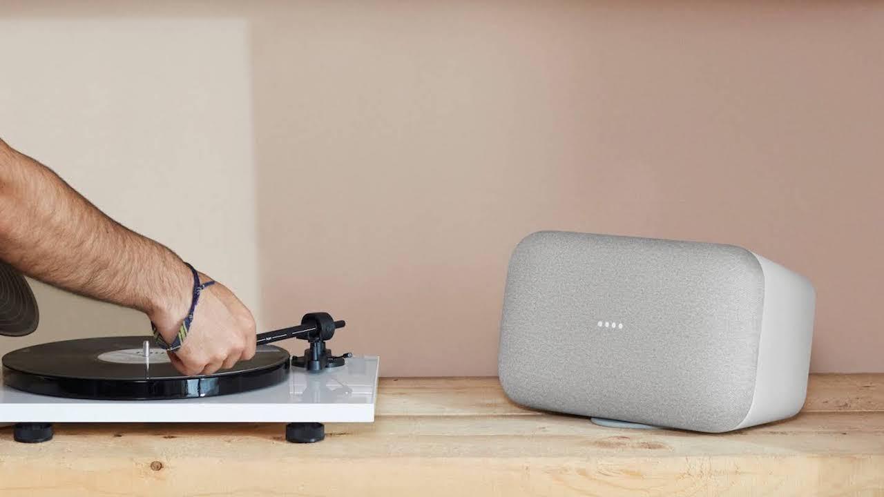 google home max l 39 enceinte connect e rend la musique explosive. Black Bedroom Furniture Sets. Home Design Ideas
