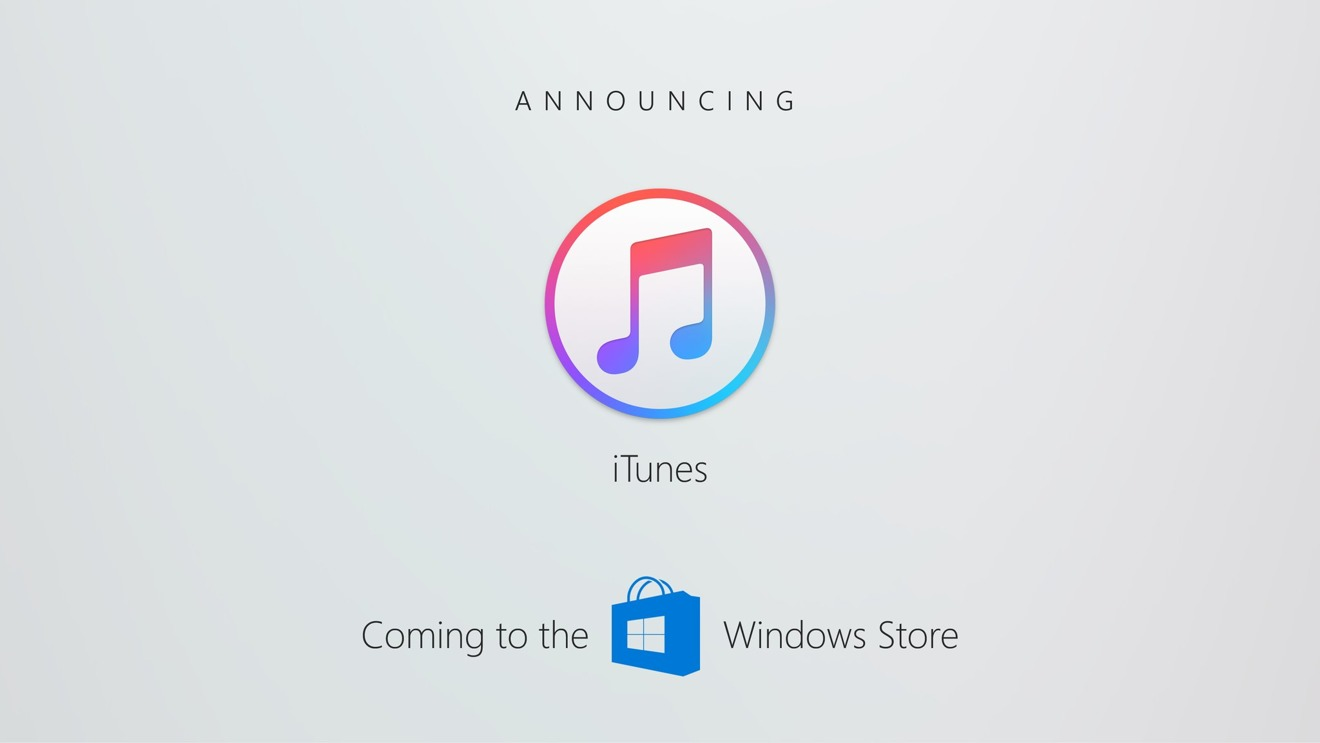 ITunes n'arrivera pas en 2017 sur le Windows Store