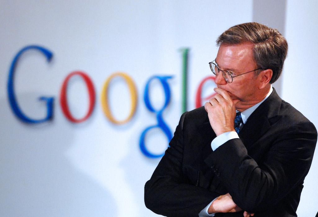 Démission d'Eric Schmidt, le président d'Alphabet la maison-mère de Google
