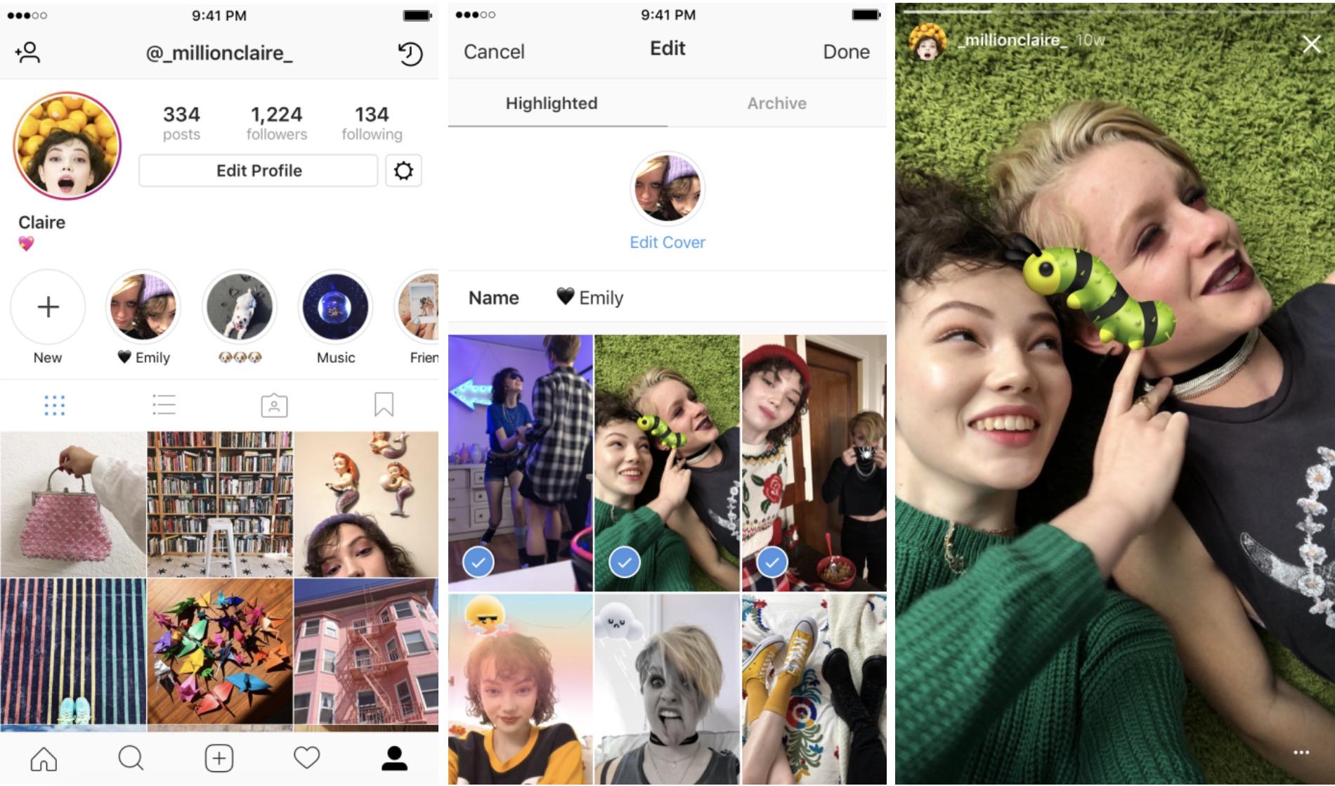Instagram lance deux nouveautés : Stories à la une et l'archivage des Stories