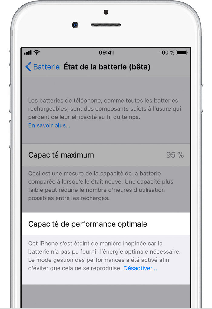 Ios11 iphone6 settings battery health performance - Comment installer office sur ipad ...