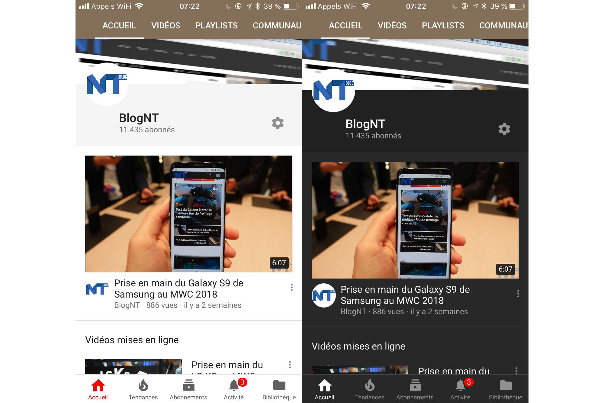 YouTube sur iOS et Android obtient enfin un mode sombre