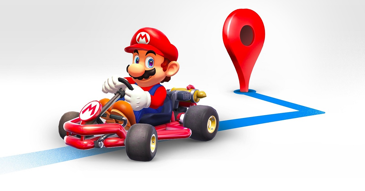 Un easter egg en l'honneur du #MarioDay — Google Maps